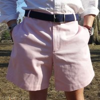 Freedom Shorts in Cherry Blossom Light Pink Twill by Blankenship Dry Goods