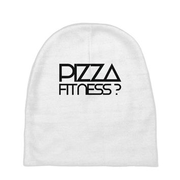 pizza fitness Baby Beanies