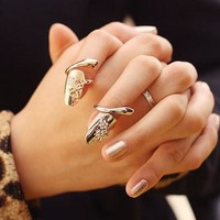 Fit Size New Design Fashion Women Silver Crystal Ring Wedding Engagement Gift Jewelry = 5988133889