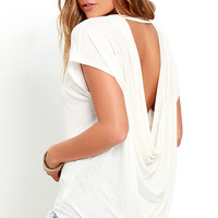 Essential Bliss Cream Backless Top