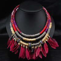 Indian Ethnic Feather Necklace