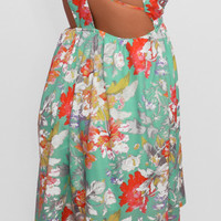 Couldn't Be Strappier Floral High-Low Dress - Haute Pink