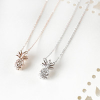 Pineapple Necklace, Gold Pineapple Necklace, Silver Pineapple Necklace, Dainty Pineapple Necklace