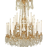 French Mid 19th Century Louis XVI St. Ormolu and Baccarat Crystal Chandelier