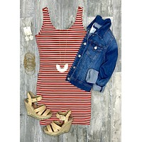Striped Scoop Tank Dress