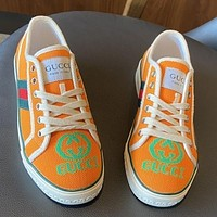 GG Tennis 1977 Embroidered breathable casual sports shoes sneakers Orange