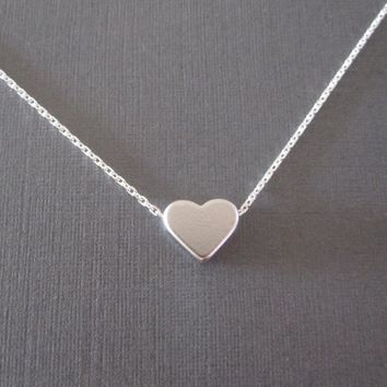 Heart Necklace-Silver/Gold