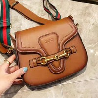 Gucci leisure wild color broadband saddle bag shoulder Messenger bag