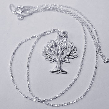 Sterling silver necklace TREE