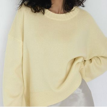New hot sale women's knitted pullover all-match sweater
