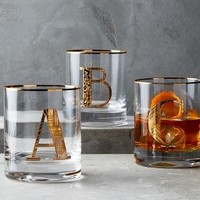 Gilded Monogram DOF Glass by Anthropologie in Gold Size: