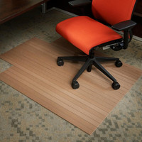 "Chestnut Natural Chestnut Composite Chairmat, 43"" x 52"", with lip"