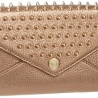 Rebecca Minkoff Chain With Studs H550I001S Wallet,Bronze,One Size