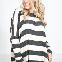 Hipster Striped Dolman Top