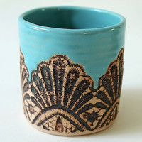 Moroccan Lace Tumbler in Turquoise