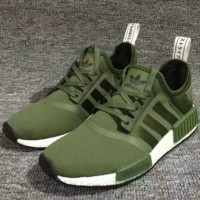 """Adidas"" NMD Boost Casual Sports Shoes Army Green"