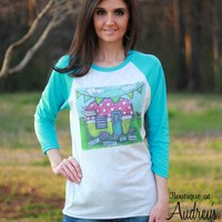 Luckybird Clothing Collect Moments Not Things Shirt with Vintage Camper Art