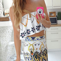 Printed Two Piece Dress