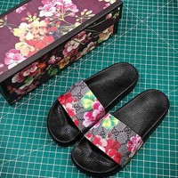 Gucci GG Blooms Flower Slide Sandals
