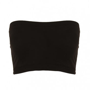 "Seamless Crop Tube Top ""Available in Colors"