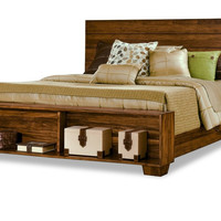 Canby Platform Bed With Bookcase