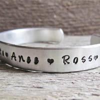 CUSTOM Childrens Child Names Cuff Bracelet For Mom Mother Aluminum Personalized For You Kids Names
