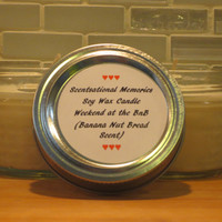 Scented Candle Weekend at the BnB Banana Nut Bread Scented Soy Candle Set of Two Four oz Candles Gift Idea