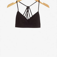 ONE ELEVEN STRAPPY BACK BRALETTE - BLACK from EXPRESS