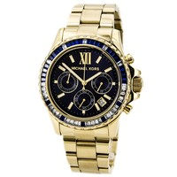 Michael Kors MK5754 Womens Everest Blue Dial Chronograph Gold Tone Steel Watch