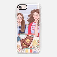 Gilmore Girls in Lukes Diner - TV Show Food Coffee Illustration by Rachel Corcoran - Rachillustrates iPhone 7 Case by Rachel Corcoran   Casetify