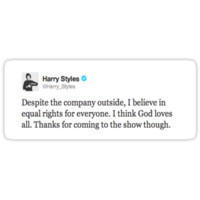 Harry Styles Equal Rights Tweet