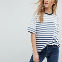 ASOS Crew Neck T-Shirt in Ombre Stripe at asos.com