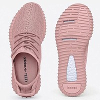 """Adidas"" Women Yeezy Boost Sneakers Running Sports Shoes Pink G"