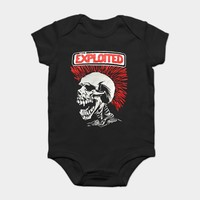 THE EXPLOITED Baby Onsie Kid's Bodysuits shirt Punk Band (Many Colors)