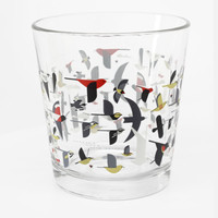 Charley Harper Bird Migration Double Old Fashioned Set of 4 Glasses