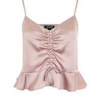 Satin Ruched Camisole Top - New In Fashion - New In