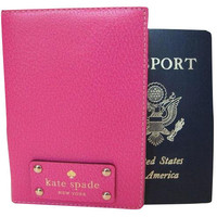 Kate Spade Wellesley Sweater Pink Leather Passport Holder Case