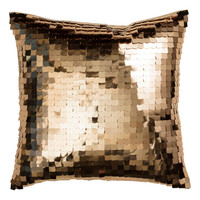 H&M - Sequined Cushion Cover - Gold