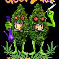 Good Buds Stick Together Pot Marijuana Blacklight Poster Print 24 x 36in