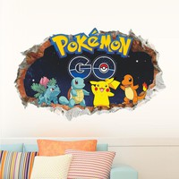 Cartoon Pokemon Go Wall Stickers Living room Bedroom Children Room Decoration Wall Decals Poster Mural Fashion Gift For Children
