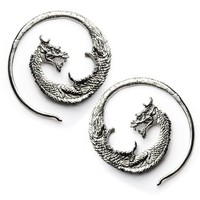 Drakos White Brass Dragon Hanger (PAIR)