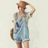 ♡ Cute Trendy Denim Overalls Jumpsuit Jeans Shorts ♡