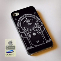 Magic Gate of Moria, Lord Of The Ring, The Hobbit - Print on Hard Plastic, available for iPhone and Samsung Galaxy. Choose for your device