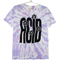 Killer Condo — Stretched Out Acid Rave T-shirt   Black on Tie Dye