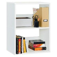 Way Basics 2-Shelf Duplex Bookcase and Eco Storage Shelf - White (made from zBoard paperboard non-toxic and formaldehyde free) : Target