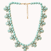 FOREVER 21 Old Charm Faux Stone Necklace Mint One