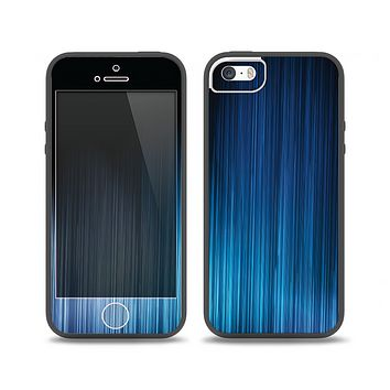 The Dark Blue Streaks Skin Set for the iPhone 5-5s Skech Glow Case