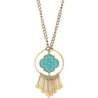 PAINTED BRASS DROP NECKLACE