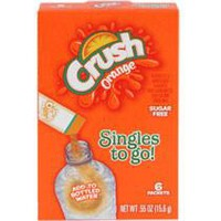 Crush Drink Flavored Singles to go 6 ct pack