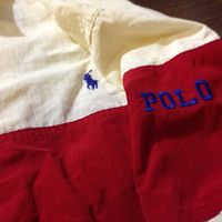 Vintage 1990s Polo by Ralph Lauren Stripe Zip up Jacket XL Throwback Lo